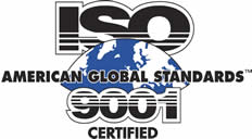 ISO American Global Standard 9001 Certified